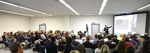 SEO-Vortrag Franz-Rudolf Borsch Existenzgründer-Messe München 2015 (Foto: Goran Gajanin)