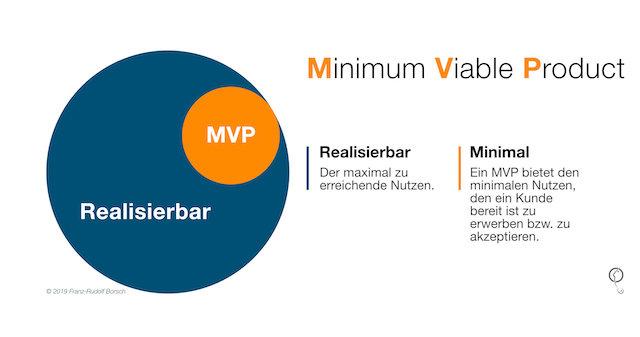 MVP - Minimal Viable Product by Franz-Rudolf Borsch