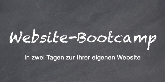 Produktion Ihrer Website