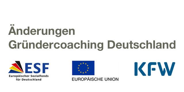 Gründercoaching Deutschland - Änderung Zuschussregeln